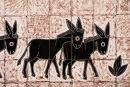Three Donkeys (detail)