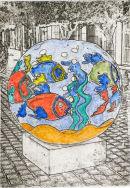 alegrin a usted y a mi - 5x7 intaglio print (non-toxic) 2010