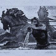 Apollo - 5x7 Intaglio Print (Non-Toxic) on Handmade Paper 2008