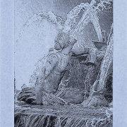 Fontaine of Latona - 5x7 Intaglio Print (Non-Toxic) on Handmade Paper 2008