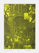 La Rue Pitonne - 5 x 7 Intaglio Print with Viscosity Roll (Non-Toxic) 2008