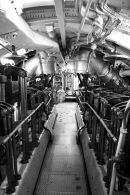 The engine room, its looks quite wide until two people try to pass.