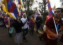 Tibetan Ptotesters, Olympic Torch Relay. Canberra