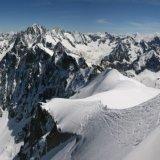 Aiguille du PLan, Aiguille du Grepon, Aiguille Verte and Les Drus from Aiguille du Midi
