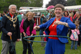 Mayoress and her hoops