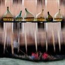 Venetian bottles and boat