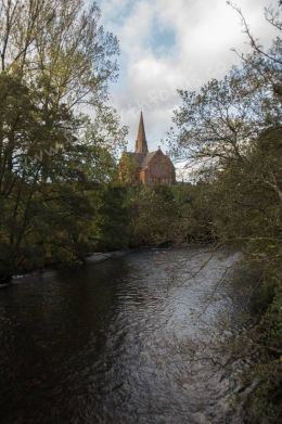 Penpont Church and River
