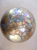 Globe commission.Enamel paints on brass.