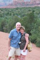Bill Rosen and his lovely bride, Patty, outside of Sedona.