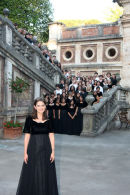 The Momma Hen with her brood following a performance in Montecatini Terme.