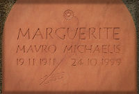 Memorial in red sandstone
