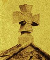 NT St Cuthbert's Chapel cross