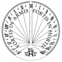 Design for Armstrong sundial, National Trust, Cragside