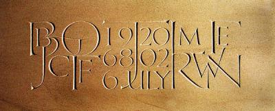 Lettered bench, Trajan style