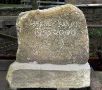 memorial in field stone