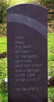 Memorial in slate