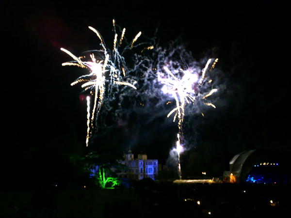 Fireworks at Audley End
