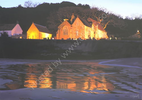 Reflections of St Brelade's Church