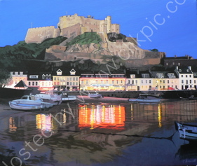 Mont Orgueil at Night