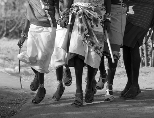 Samburu dancing feet, Kenya