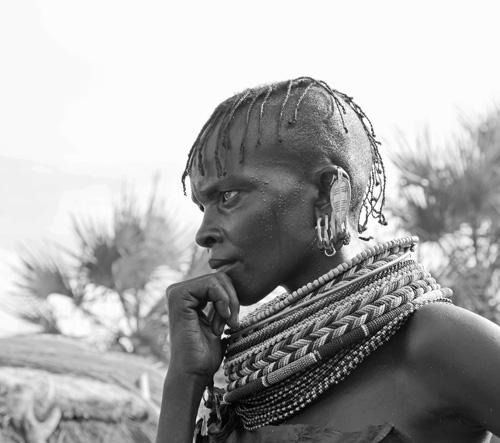 Women contemplating, Kenya