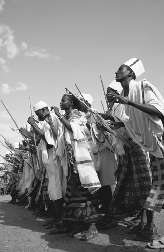 Men and Women Dancing together, Kenya