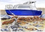 Motor Boat, Careening Hard Guernsey.