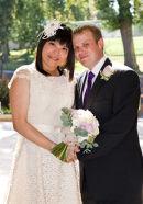 Anita & Brett after the wedding.