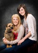 Lauren Vaudin ,Sister and pet dog.