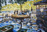 La Grenouillere. Claude Monet.