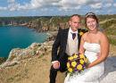 The couple ,plus panoramic vista.