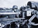 Loading the dreaded 88mm artillery gun.