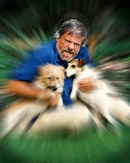 Oliver Reed and his dogs