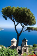 Looking out from the gardens of the Villa Rufolo