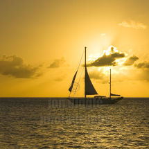 Into the sunset St Lucia