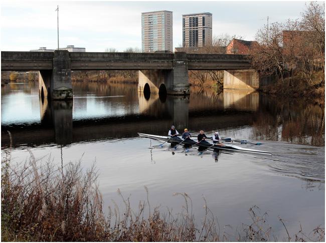 Downriver from King's Bridge.