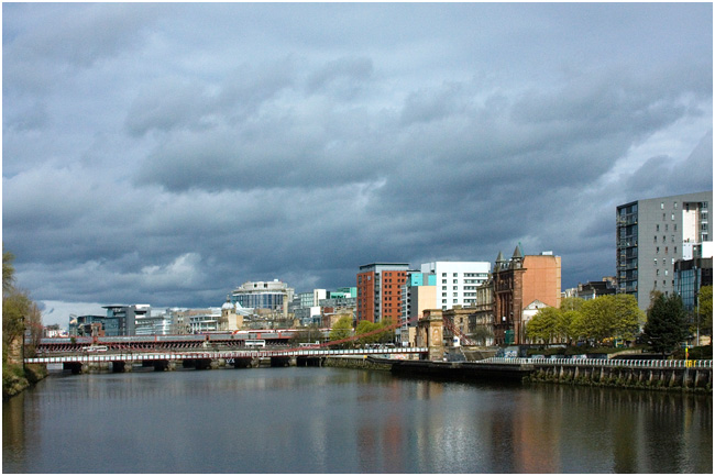 Atlantic Quay on the North bank of the Clyde.