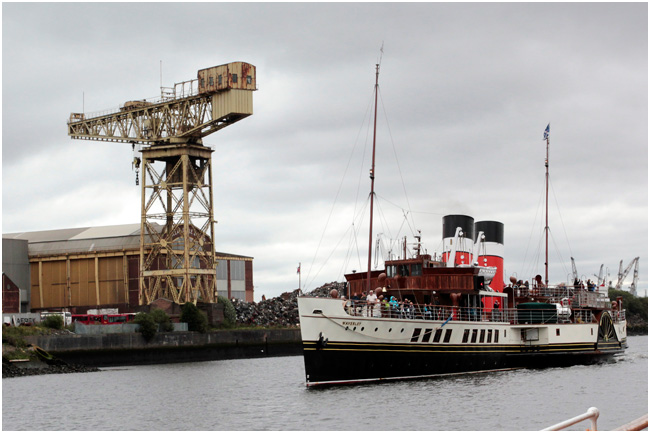 PS Waverley passing the old Barclay Curle Yard.