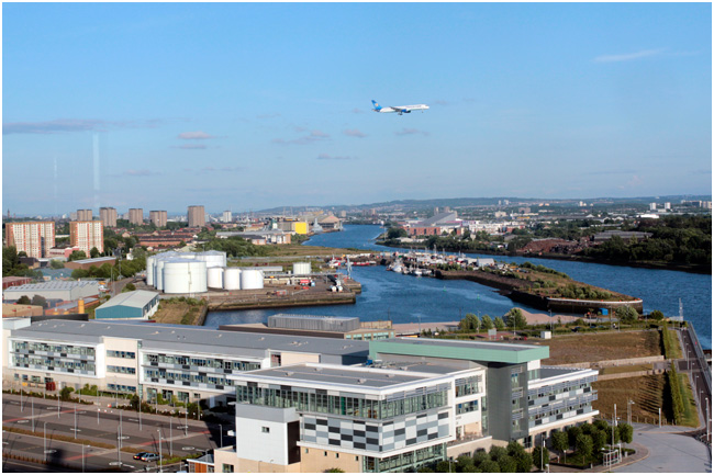 View upriver at Clydebank.