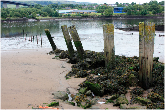 Beside the Erskine Bridge are the remains of the old Erskine Ferry approaches.