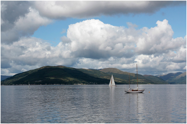 View from Gourock, looking over to Kilcreggan.