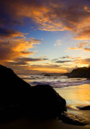 Sunset, Freathy Beach, Whitsand Bay, Cornwall, UK