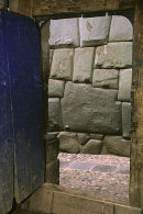 Inca twelve-angled stone through a Colonial doorway