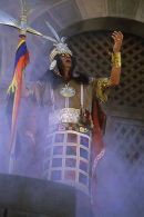 Inca at Inti Raymi (Festival of the Sun) ceremony