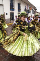 Morenada traditioonal dance