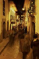 Cusco street at night