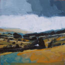 "Teesdale, Winter, 2006, Acrylic on Board, 6"" x 6"" *SOLD*"
