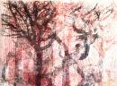Multi trees Woodcut