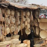 Basket work stall, Zambia