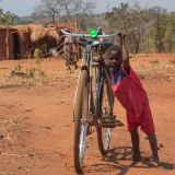 Boy with bicycle, Zambia